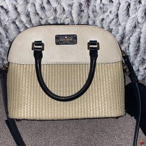 Kate spade burlap crossbody purse